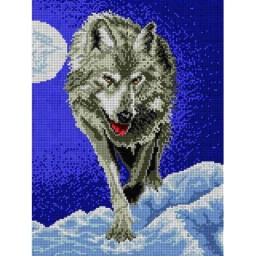 TAPESTRY CANVAS Wolf 30X40cm 1483J