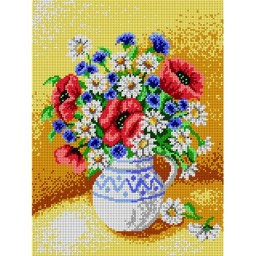 TAPESTRY CANVAS Bouquet of Wild Flowers 30X40cm 1718J