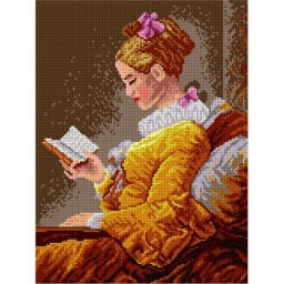 TAPESTRY CANVAS A Young Girl Reading 30X40cm 1719J