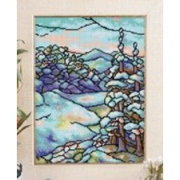 TAPESTRY CANVAS Winter after Louis C. Tiffany 30X40cm 2148J