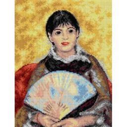 TAPESTRY CANVAS Girl with a Fan after Piere August Renoir 30X40cm 2149J