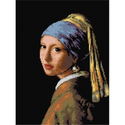 TAPESTRY CANVAS Girl with a Pearl Earring after Jan Varmeer 30X40cm 2150J