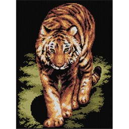 TAPESTRY CANVAS Tiger 30X40cm 2196J