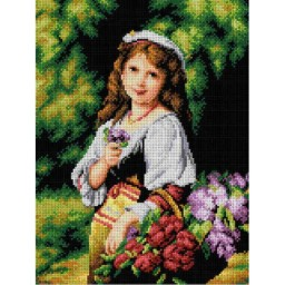 TAPESTRY CANVAS Portrait of a Young Girl 30X40cm 2262J