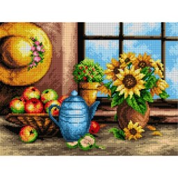 TAPESTRY CANVAS Summer in My House 30X40cm 2300J