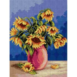 TAPESTRY CANVAS Bouquet of Sunflowers 30X40cm 2346J