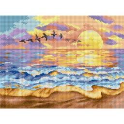 TAPESTRY CANVAS Sunset over the Sea 30X40cm 2381J