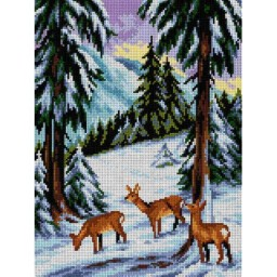 TAPESTRY CANVAS Deer in the Forest 30X40cm 2424J