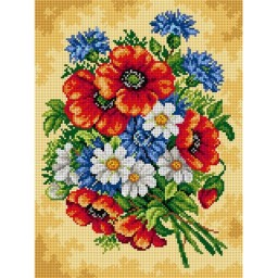 TAPESTRY CANVAS Bouquet of Wild Flowers 30X40cm 2469J