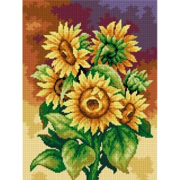 TAPESTRY CANVAS Bouquet of Sunflowers 30X40cm 2488J