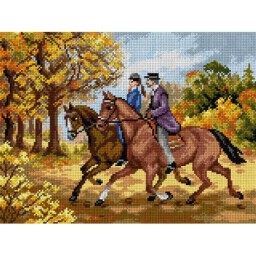 TAPESTRY CANVAS Horse Ride 30X40cm 2514J