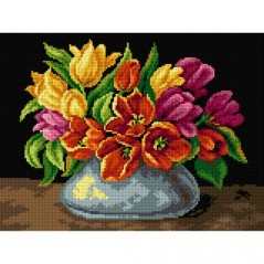 TAPESTRY CANVAS Bouquet of Spring Tulips 30X40cm 2566J