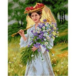 TAPESTRY CANVAS Summer-Woman in a White Dress after Mykola Pymonenko 40X50cm 2592M