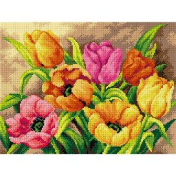 TAPESTRY CANVAS Tulips 30X40cm 2618J
