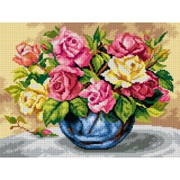 TAPESTRY CANVAS Colorful Roses 30X40cm 2621J