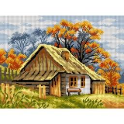TAPESTRY CANVAS Autumn Cottage 30X40cm 2631J