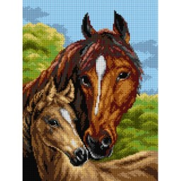 TAPESTRY CANVAS Horses after Heywood Hardy 30X40cm 2654J