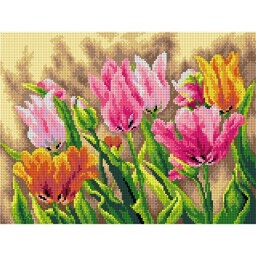 TAPESTRY CANVAS Spring Tulips 30X40cm 2660J