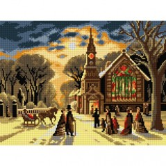 TAPESTRY CANVAS Christmas Eve after James Latham 30X40cm 2752J