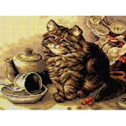 TAPESTRY CANVAS A Little Upset Cat after Ada Eliza Tucker 30X40cm 2768J