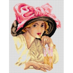 TAPESTRY CANVAS Girl with a Hat 30X40cm 2783J