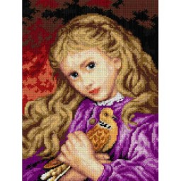 TAPESTRY CANVAS The Turtle Dove after Sophie G. Anderson 30X40cm 2784J