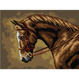 TAPESTRY CANVAS Horse 30X40cm 2835J