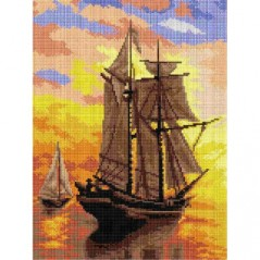 TAPESTRY CANVAS A Sunset 30X40cm 2849J