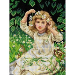 TAPESTRY CANVAS Marguerite after Frederick Morgan 30X40cm 2870J