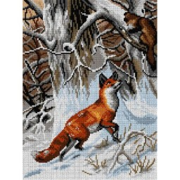 TAPESTRY CANVAS Hunting Fox 30X40cm 2974J