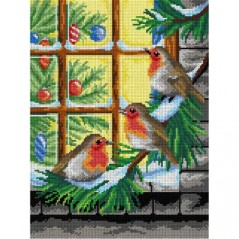 TAPESTRY CANVAS Waiting for Christmas 30X40cm 2978J