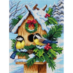TAPESTRY CANVAS Birds Tits 30X40cm 2994J
