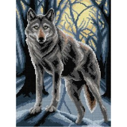 TAPESTRY CANVAS Wolf 30X40cm 3018J