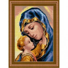 TAPESTRY CANVAS Madonna and Child 30X40cm 3037J
