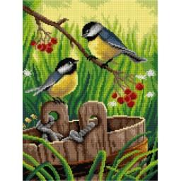 TAPESTRY CANVAS Birds 30X40cm 3049J
