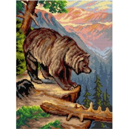 TAPESTRY CANVAS Old Grizzly 30X40cm 3054J