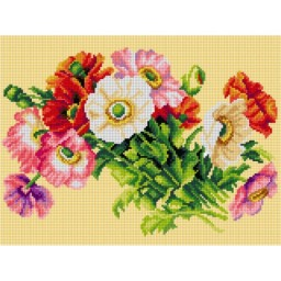 TAPESTRY CANVAS Iceland Poppies 30X40cm 3064J