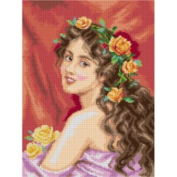 TAPESTRY CANVAS Portrait of a Beauty after Federico Andreotti 30X40cm 3107J