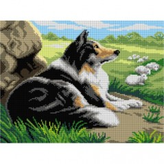 TAPESTRY CANVAS An Efficient Guardian after Robert Atkinson Fox 30X40cm 3113J