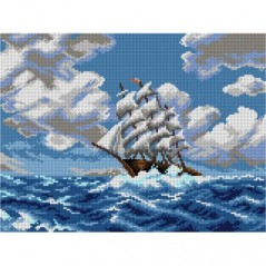 TAPESTRY CANVAS Clipper Ship after Robert Atkinson Fox 30X40cm 3118J