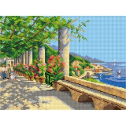 TAPESTRY CANVAS A View of Amalfi 30X40cm 3126J