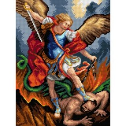 TAPESTRY CANVAS Archangel Michael 30X40cm 3144J
