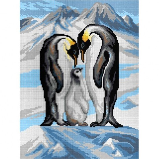 TAPESTRY CANVAS Penguin 30X40cm 3160J