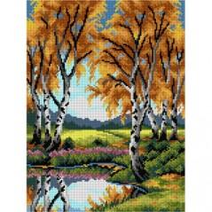 TAPESTRY CANVAS Autumn Landscape 30X40cm 3163J