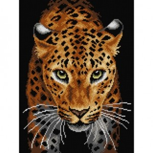TAPESTRY CANVAS Leopard 30X40cm 3210J