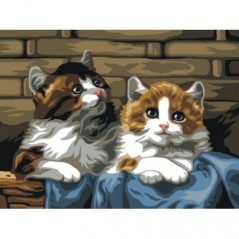 TAPESTRY CANVAS Cats 30X40cm C104J
