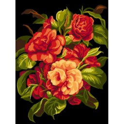 TAPESTRY CANVAS Flowers 30X40cm C129J