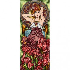 TAPESTRY CANVAS Amethyst after Alphonse Mucha 30X70cm 2427Q
