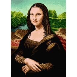 TAPESTRY CANVAS Mona Lisa after Leonardo da Vinci 38.5X54cm 1899M