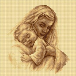 TAPESTRY CANVAS Motherhood 40X40cm 2324L
